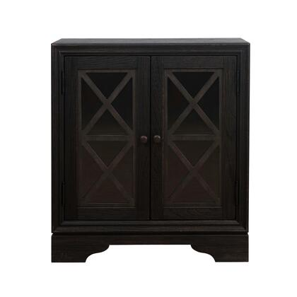 156-DS-D204-059 Rustic Barn-Inspired Two Door Accent Chest in Distressed Charcoal