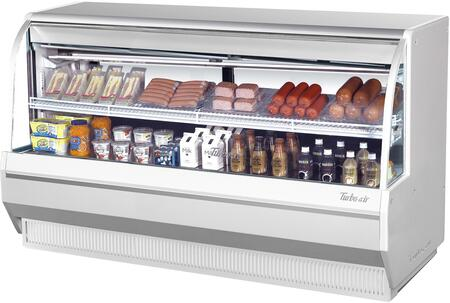 Turbo Air TCDD72LWN Display and Merchandising Refrigerator White, TCDD72LWN Angled View