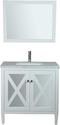 Reflection Collection MTD-7124W 24″ Single Sink Bathroom Vanity Set in