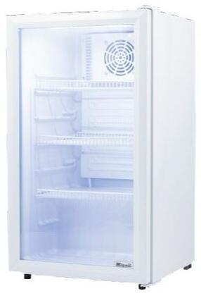 Migali Competitor C04RM Display and Merchandising Refrigerator White, 1