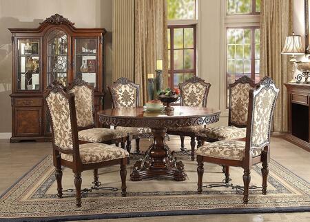 Acme Furniture Wycliff 601558SET Dining Room Set Brown, 8 PC Set