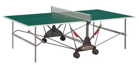 Stockholm GT 7122-490 108″ x 60″ Indoor Table Tennis Table with Patented Safety-Fold with Dual Lock  1.5″ Wide Oval Steel Legs and 5″ Dual Wheel
