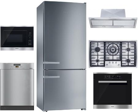 Miele 1048635 6 piece CleanTouch Steel Kitchen Appliances Package