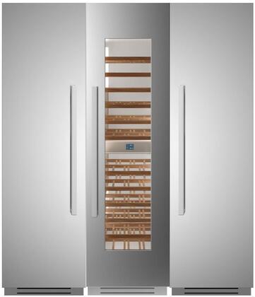 Bertazzoni  1296237 Column Refrigerator & Freezer Set Stainless Steel, 1