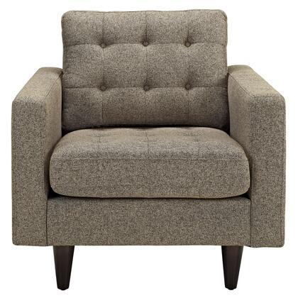 Modway Empress EEI1013OAT Accent Chair Brown, 1