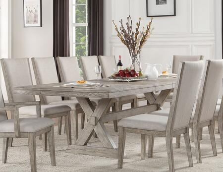 Acme Furniture Rocky 72860 Dining Room Table Gray, 1
