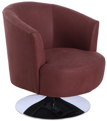 Tustin Leisure Collection TUSTIN212012 Accent Chair with 360 Degree Swivel  Wing Arms  Memory Foam Seating  All Steel Construction and Quality Fabric