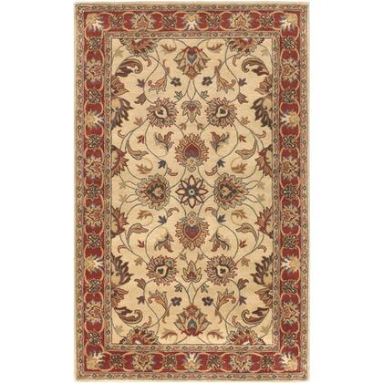 Caesar CAE-1001 6′ x 9′ Rectangle Traditional Rugs in Camel  Burnt Orange  Dark Brown  Clay  Olive