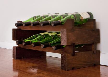 Vinotemp EP447210S Wine Rack, 2 x 5 stained
