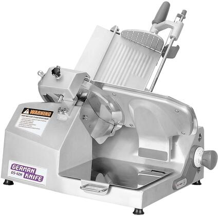 GS-12M 12″ Heavy Duty Manual Slicer with Gear Driven Knife Motor  Half-Permanently Lubricated Worm Gears and Ergonomic Style Chute Handle in
