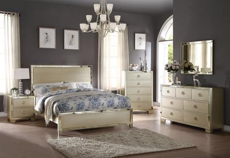 Acme Furniture Voeville II 27140QSET Bedroom Set Gold, Bedroom Set