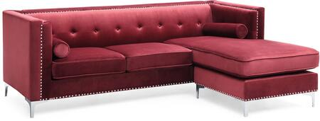 Glory Furniture Capua G0349BSC Sectional Sofa Red, G0349BSC Main Image