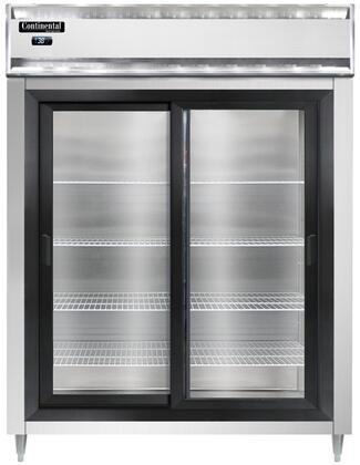 Continental Refrigerator Designer Line D2RENSSSGD Reach-In Refrigerator Stainless Steel, D2RENSSSGD Reach-In Refrigerator