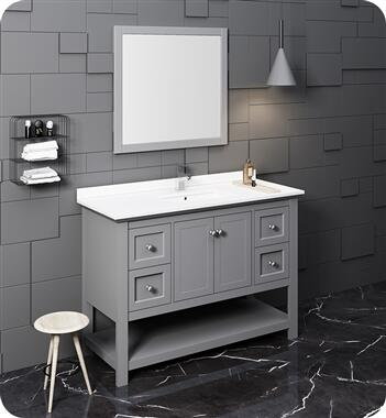 Manchester Collection FVN2348GR 48″ Grey Traditional Bathroom Vanity with