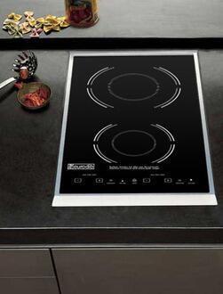 SC05 Drop-In Double Induction Range with Integrated Touch Controls  LED Display  High Quality Glass Cook Top in Hard Plastic Frame  and Simple Clean -  Eurodib