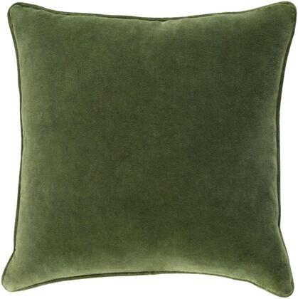 Surya Safflower SAFF71941818D Pillow Green, saff7194 1818