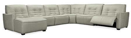 Hooker Furniture MS Series SS555G6LC095 Sectional Sofa Gray, Silo Image