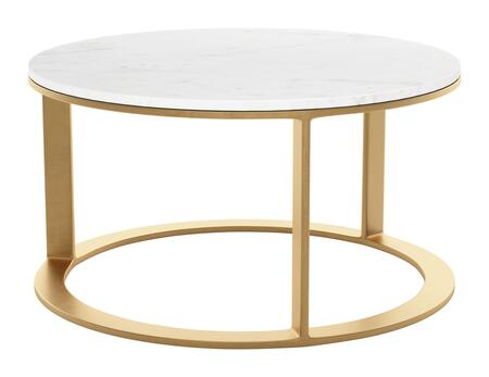 Zuo Helena 101679 Coffee and Cocktail Table Gold, 101679 1