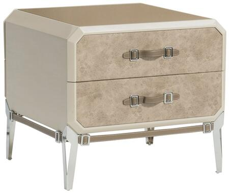 Acme Furniture Kordal 27203 Nightstand Beige, Angled View