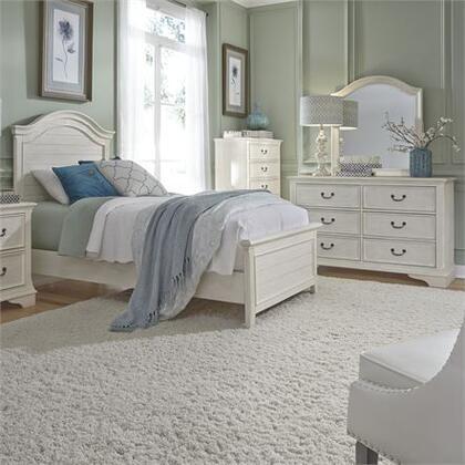 Liberty Furniture Bayside 249-YBR-TPB3SET Bedroom Set White, 249 ybr tpbdm Lifestyle