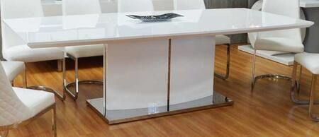 Grako Design  OU11WH Dining Room Table White, Main Image
