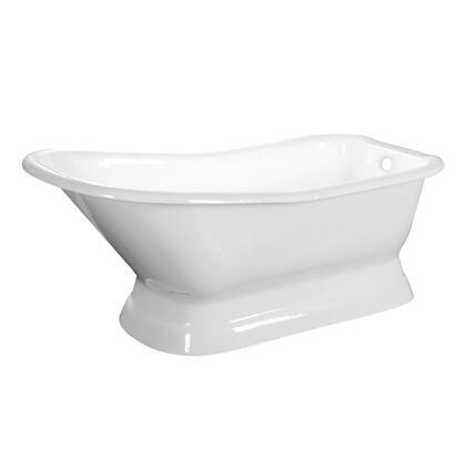 Kingston Brass Aqua Eden VCTND663028 Bath Tub White, Main Image