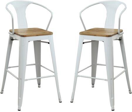 Acme Furniture Jakia II 72378 Bar Stool White, Bar Chair