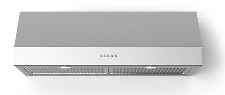 Forte Lucca LUCCA24 Under Cabinet Hood Stainless Steel, Main Image