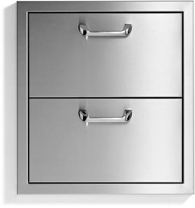 Lynx Sedona LUD519 Storage Drawer Stainless Steel, LUD519 Sedona Double Drawers