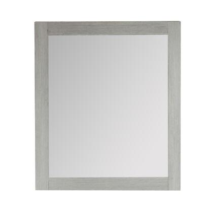 808175-M-26 26″ Rectangle Wood Frame Mirror In Gray Pine
