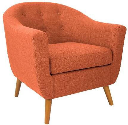 LumiSource Rockwell CHRAHRKWLOR Living Room Chair Orange, CHRAHRKWLOR