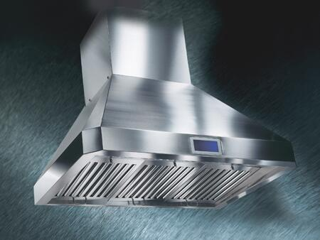 """RA0230SQB 30"""" Wall Mount Hood with 4 Speeds QuietMode Touch Screen LCD Panel and Integrated Sensor Control: Stainless"""