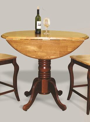 Sunset Trading Sunset Selections DLUTPD4242CBNLO Bar Table Brown, DLU TPD4242CB NLO