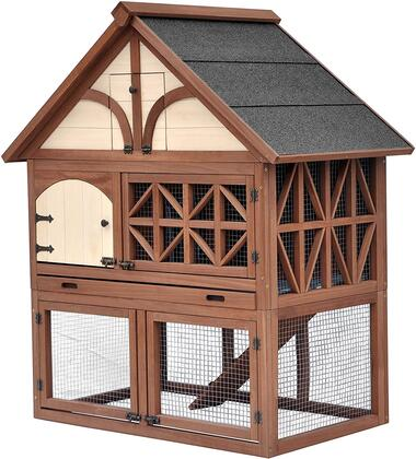 PH0010010800 Tudor Rabbit Hutch with Stainless Steel hardware and Foldable for easy