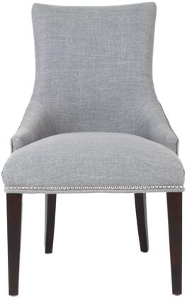 Avenue Collection 7147UP.SMK-PSL Dining Chair with Button Tufted Back  Individual Nail Head Trim  Solid Wood Frame and Linen/Viscose Fabric