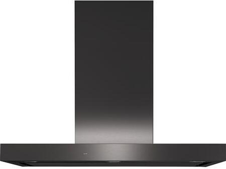 GE UVW9301BLTS Range Hood Black Stainless Steel, Main View
