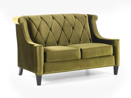 Armen Living Barrister LC8442GREEN Loveseat Green, Loveseat