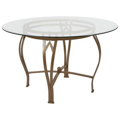 Flash Furniture Syracuse XUTBG7GG Table Gold, XU TBG 7 GG
