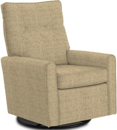 Phylicia Collection 4007-20677 Recliner with 360-Degrees Swivel Glider Metal Base  Removable Back  High Backrest  Zipper Access and Fabric Upholstery