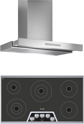 2 Piece Kitchen Appliances Package with CEM365NS 36″ Electric Cooktop and HDDB36WS 36″ Wall Mount Convertible Hood in Stainless
