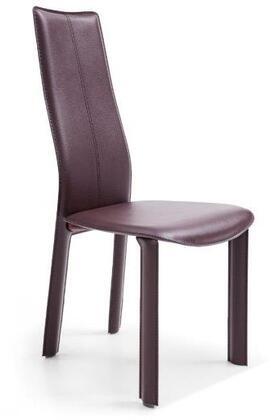 Whiteline Allison DC1004HBRN Dining Room Chair Brown, DC1004H-BRN Side View