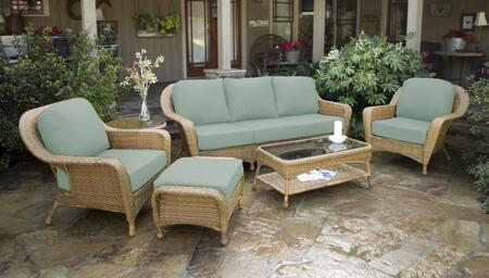 Tortuga Sea Pines LEX651MRAVES Outdoor Patio Set Brown, LEX651MRAVES Main Image