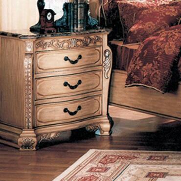 Myco Furniture Isabella Whitewash W6013N Nightstand, 1