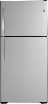 GE GIE19JSNRSS Top Freezer Refrigerator Stainless Steel, Main Image