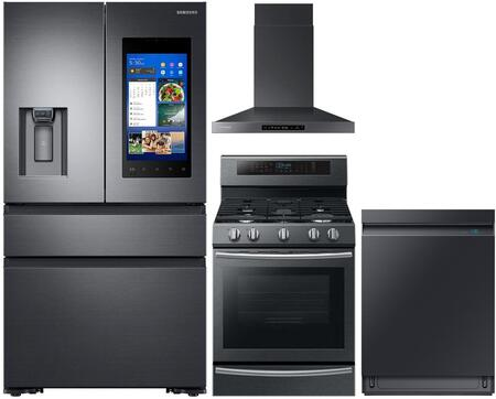 Samsung  1011428 Kitchen Appliance Package Black Stainless Steel, main image