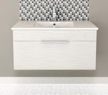 Cutler Kitchen and Bath Textures FVCW36 Sink Vanity White, Main Image