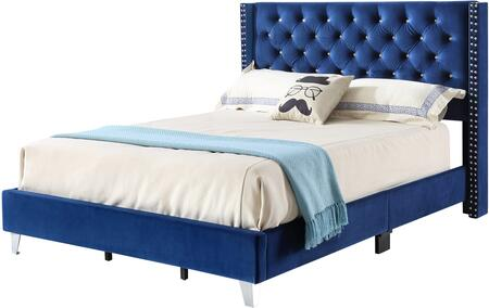 Glory Furniture Julie G1924QBUP Bed Blue, 1