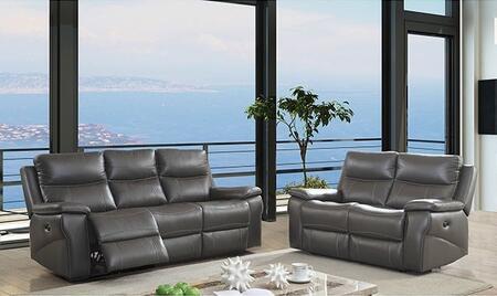 Furniture of America Lila CM6540SFLV Living Room Set Gray, Living Room Set