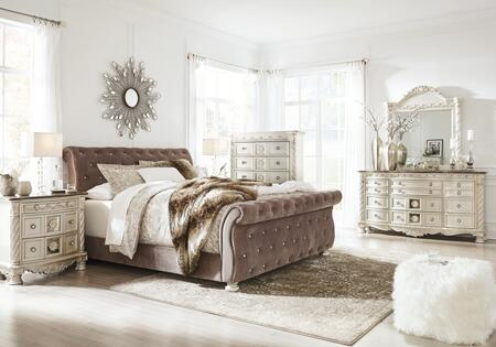 Signature Design by Ashley Cassimore B750CKUBDMNC Bedroom Set Gray, Main Image