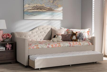 Baxton Studio 121.26 lbs. CF8940LIGHTBEIGEDAYBED Bed Beige, 7929 10